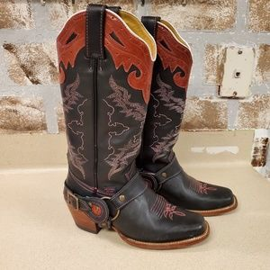 Reyme leather cowboy western boots (women)